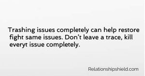 Trashing issues completely can help restore fight same issues. Don't leave a trace, kill everyt issue completely.